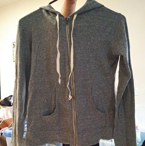 Brandy Melville hooded zip up sweater
